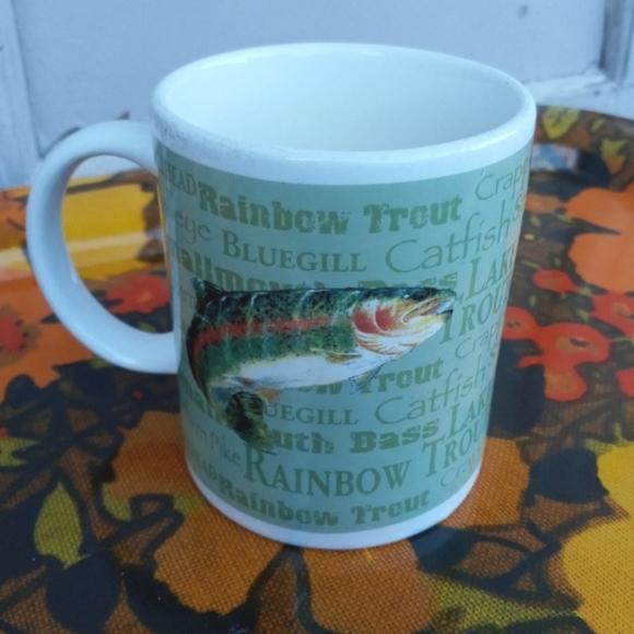 VINTAGE COFFEE MUG FISH TROUT FIELD & STREAM